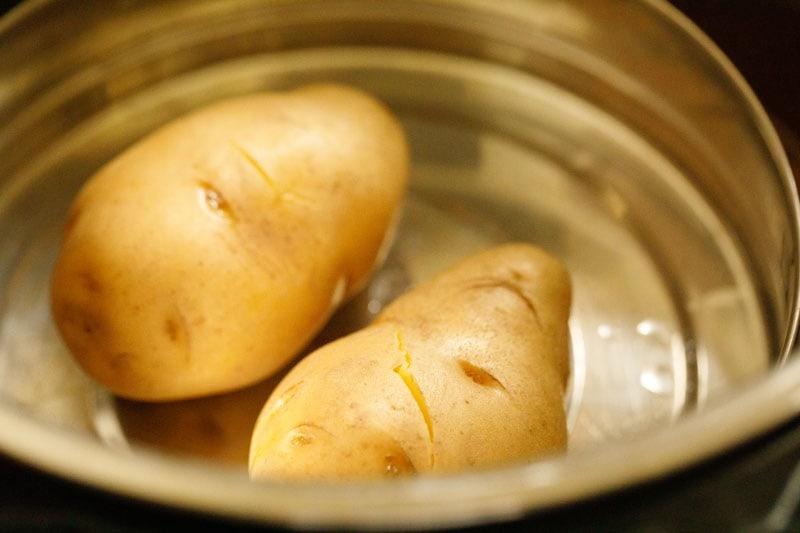 pommes de terre cuites à la vapeur