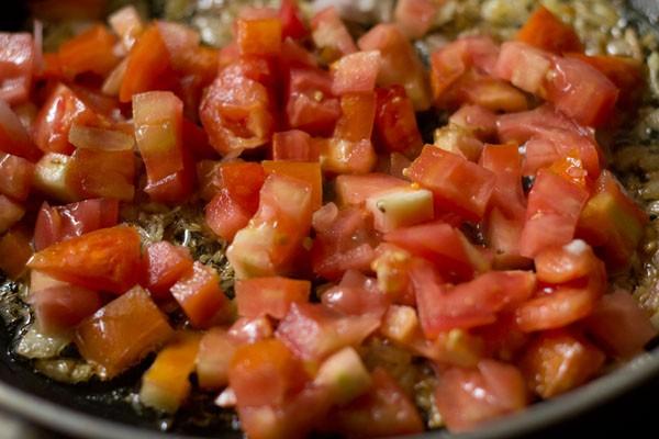 tomates ajoutées