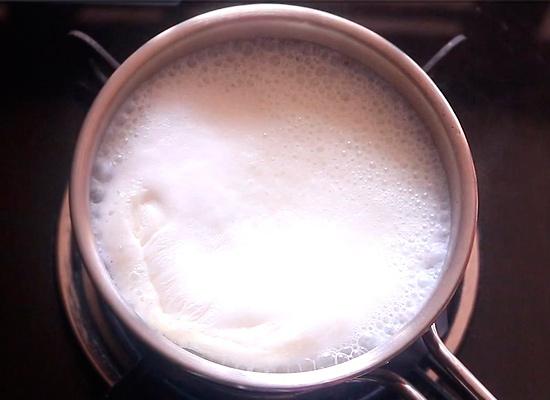 faire bouillir du lait